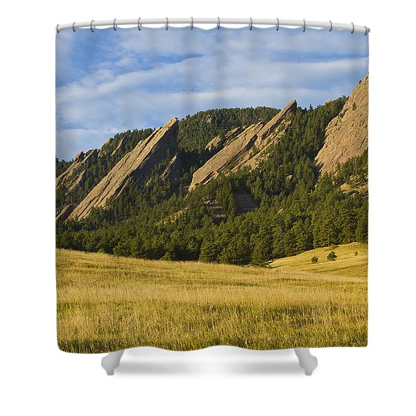Flatiron Morning Light Boulder Colorado Shower Curtain