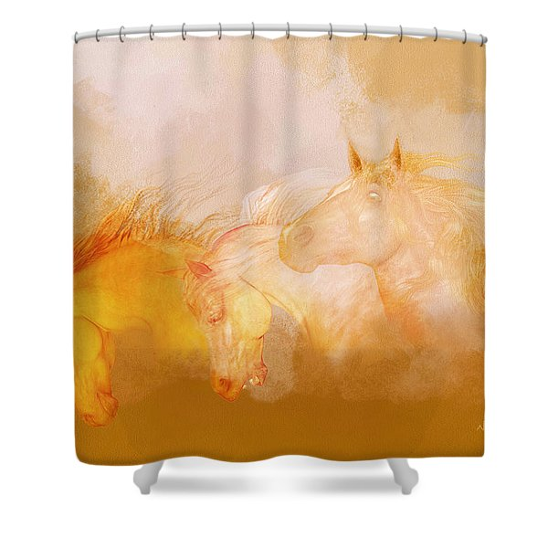 Flaxen Manes Shower Curtain