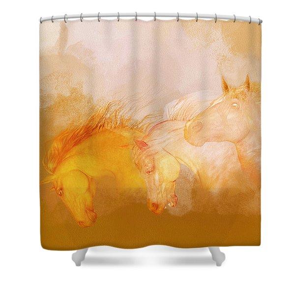Flaxen Manes Shower Curtain
