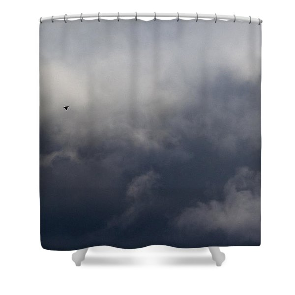 Fleeing The Storm   Shower Curtain