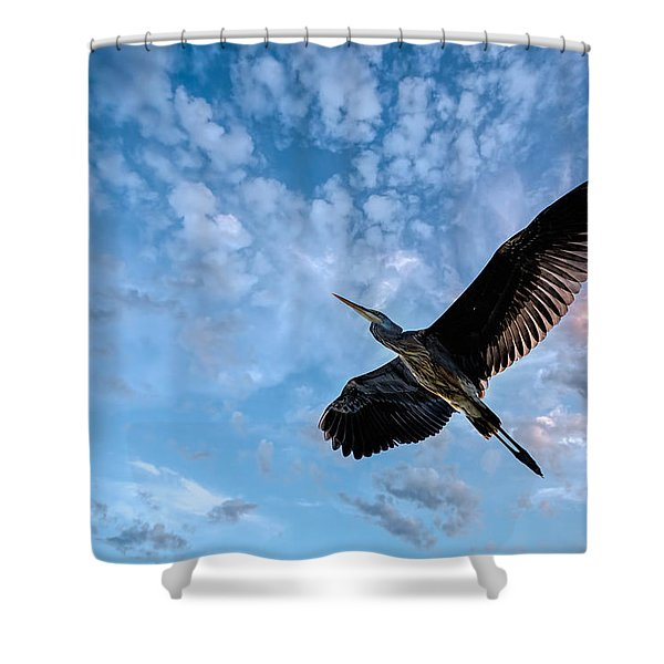 Flight Of The Heron Shower Curtain