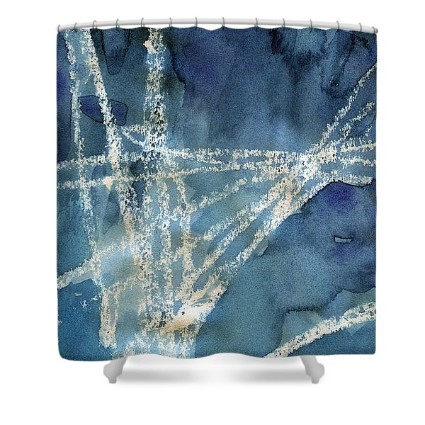Flight Path- Abstract Painting Shower Curtain