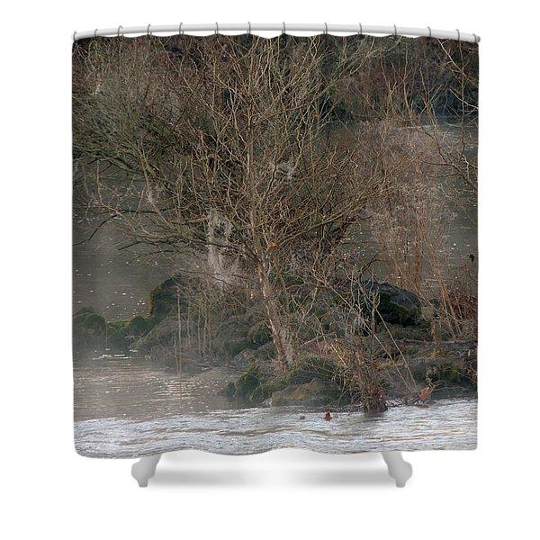 Flint River 19 Shower Curtain