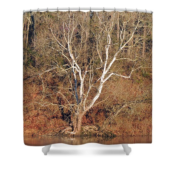 Flint River 25 Shower Curtain