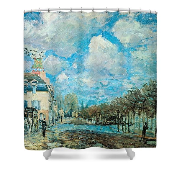Flood At Port-marly Shower Curtain