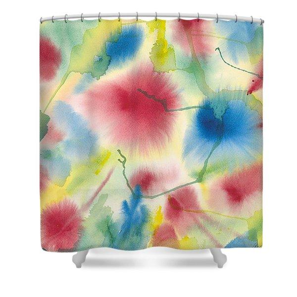Floral Burst Shower Curtain