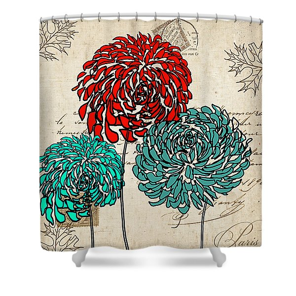 Floral Delight Iv Shower Curtain