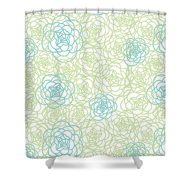 Floral Lines Shower Curtain