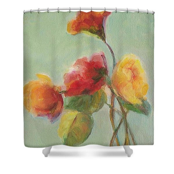 Floral Painting Shower Curtain