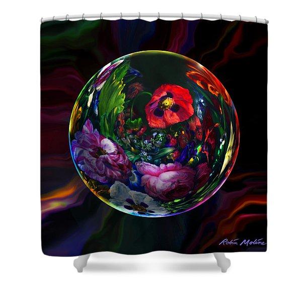 Floral Still Life Orb Shower Curtain