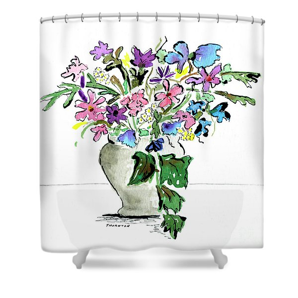 Floral Vase Shower Curtain