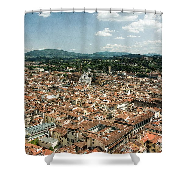 Florence Italy Cityscape Shower Curtain