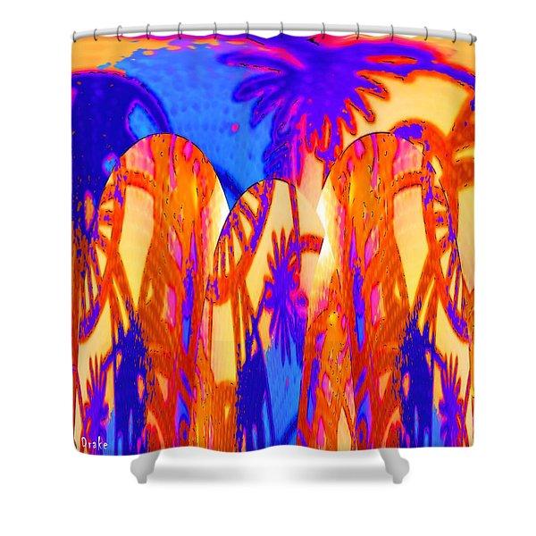 Florida Splash Abstract Shower Curtain