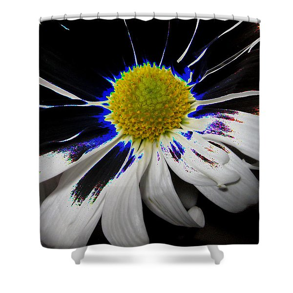 Art. White-black-yellow Flower 2c10  Shower Curtain