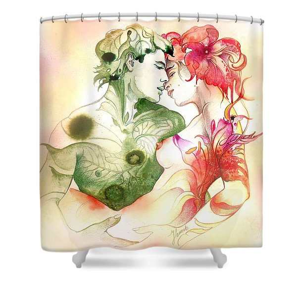 Flower And Leaf Shower Curtain