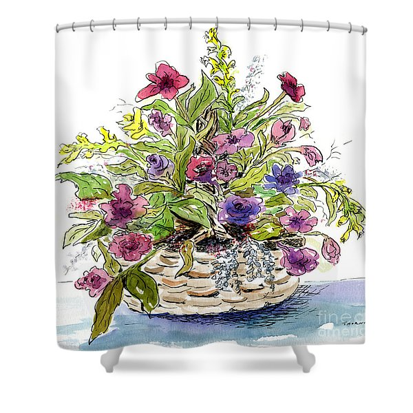 Flower Basket I Shower Curtain