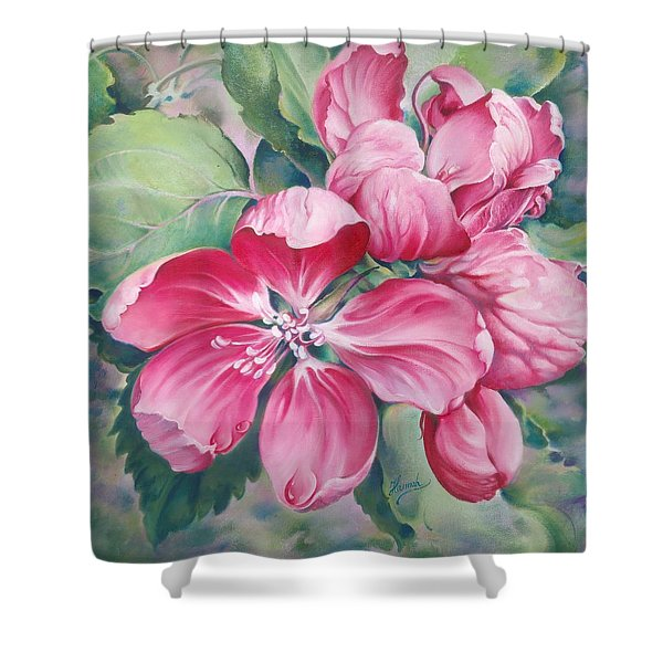 Flower Of Crab-apple Shower Curtain