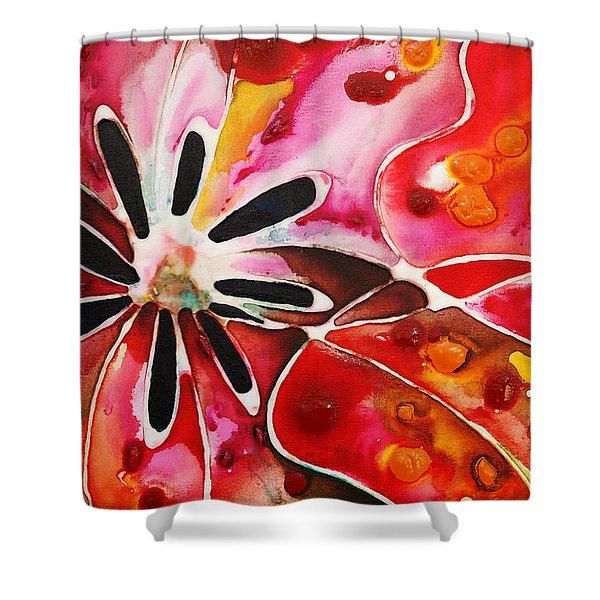 Flower Power - Abstract Floral By Sharon Cummings Shower Curtain