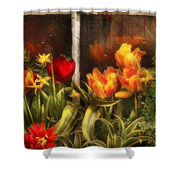 Flower - Tulip - Tulips In A Window Shower Curtain