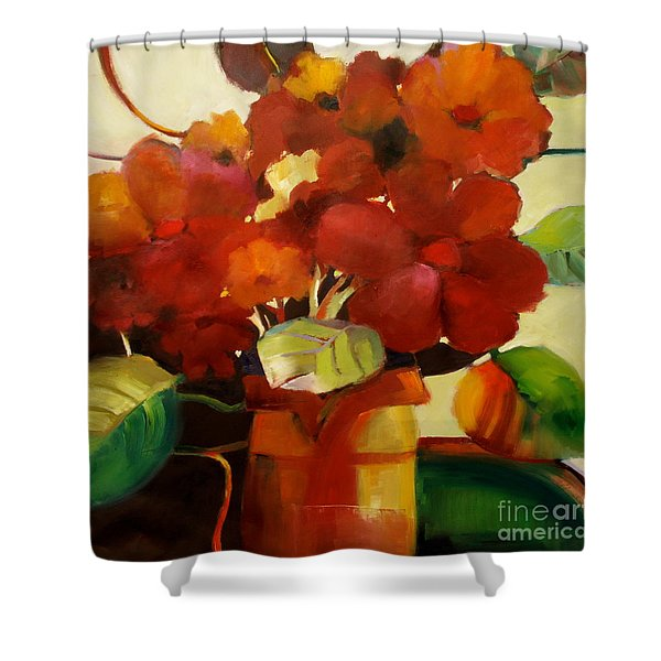 Flower Vase No. 3 Shower Curtain