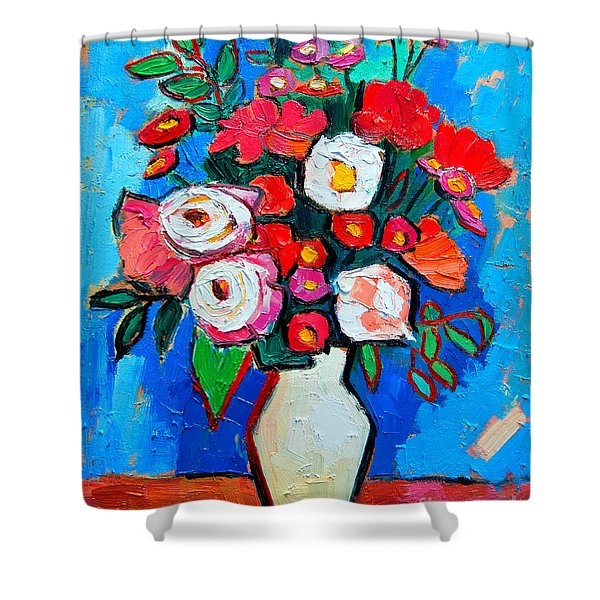 Flowers And Colors Shower Curtain