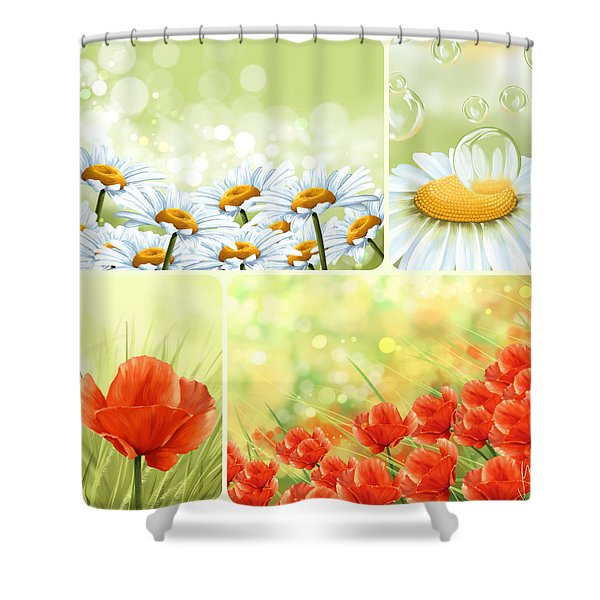 Flowers Collage Shower Curtain