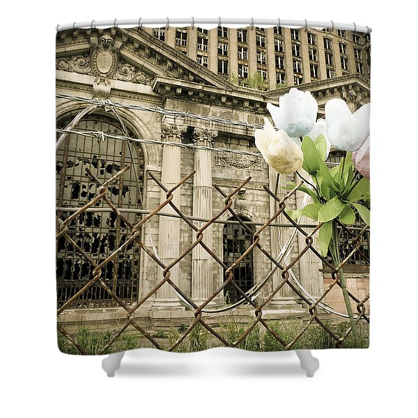 Flowers For Detroit Shower Curtain