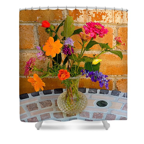 Flowers From North Texas Garden Shower Curtain