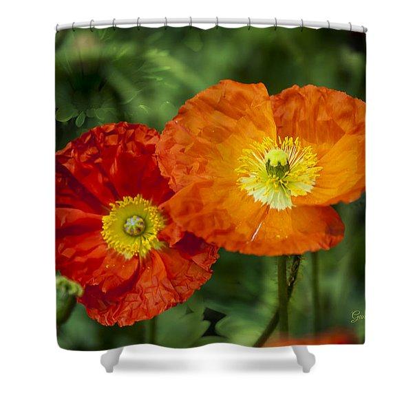 Shower Curtain featuring the photograph Flowers In Kodakchrome by Gunter Nezhoda