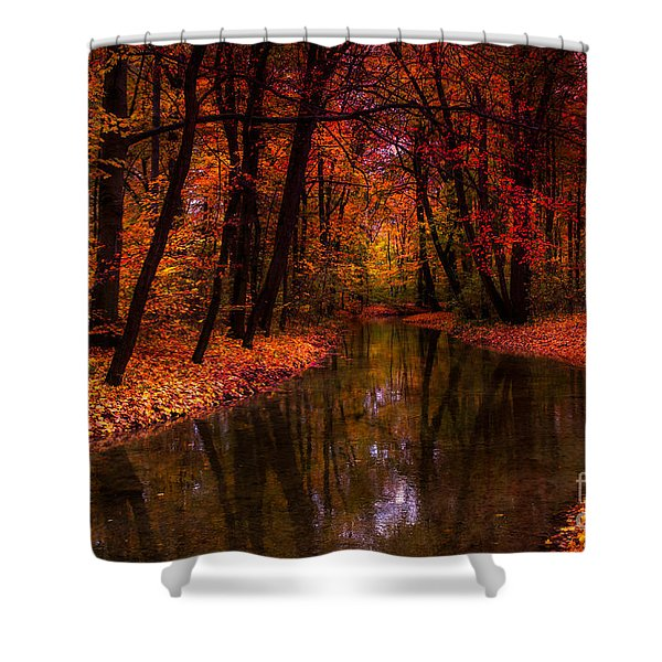 Flowing Through The Colors Of Fall Shower Curtain