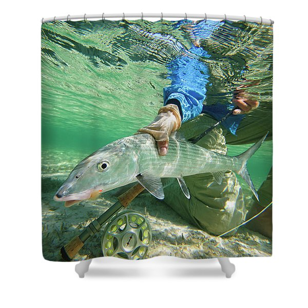 Fly Fishing In The Bahamas Shower Curtain