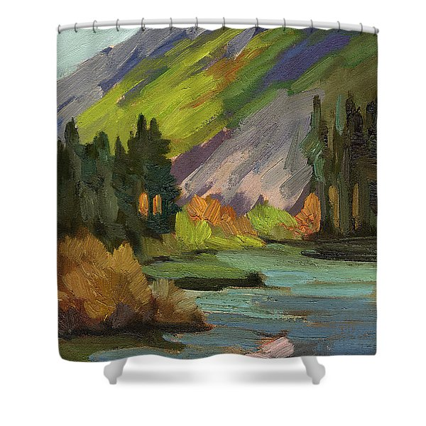 Fly Fishing Pond Shower Curtain