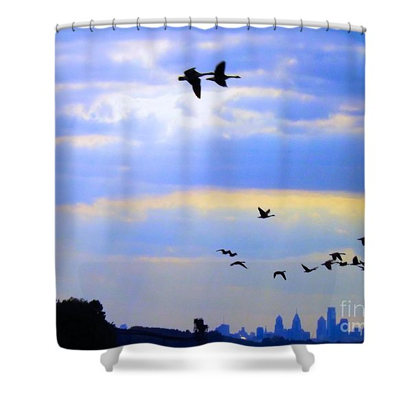 Fly Like The Wind Shower Curtain