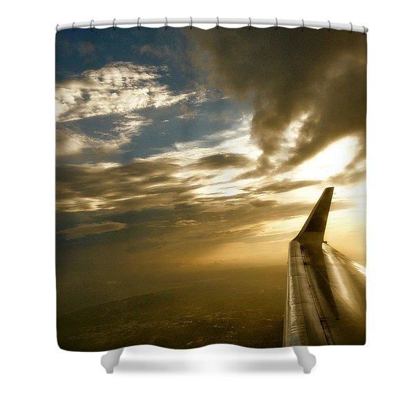 Flying Clouds By David Pucciarelli Shower Curtain