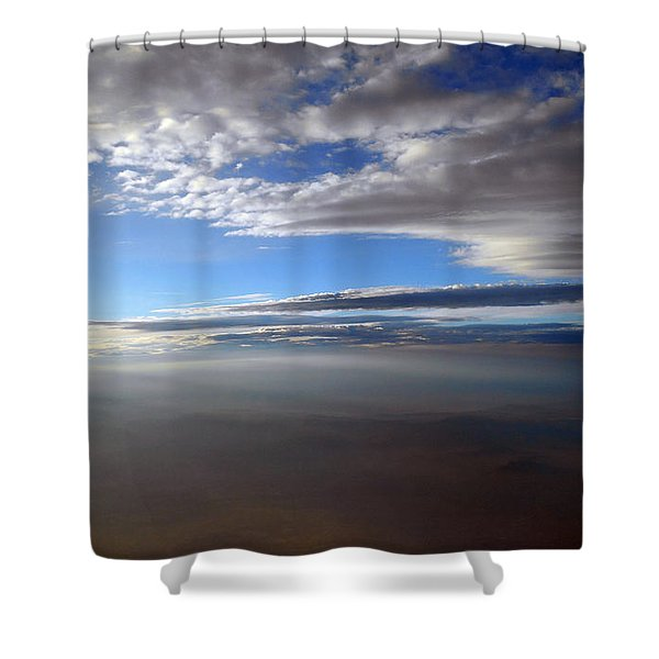 Flying Over Southern California Shower Curtain