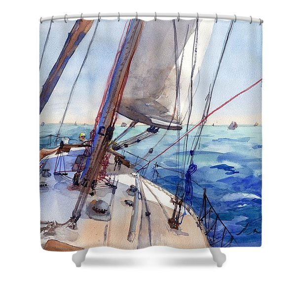 Flying The Chute Shower Curtain