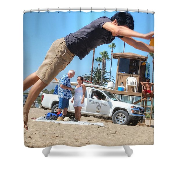 Flying Tourist Shower Curtain