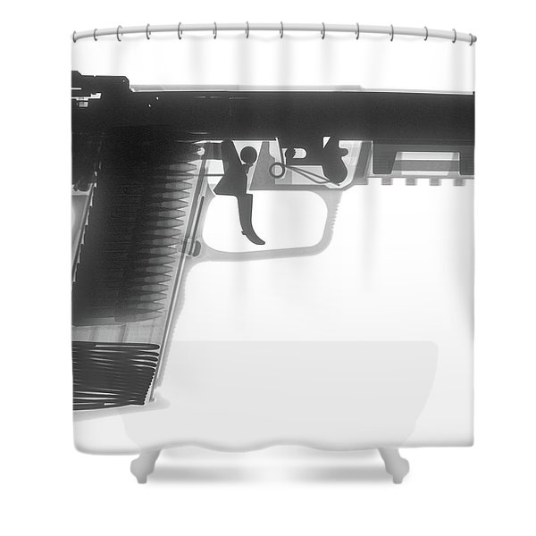 Fn 57 Hand Gun X-ray Photograph Shower Curtain