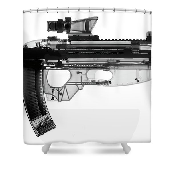 Fn Fs 2000 X-ray Photograph Shower Curtain