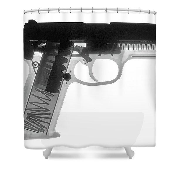 Fn P9a Hand Gun X-ray Print Shower Curtain