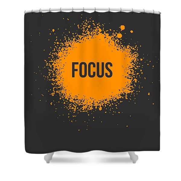 Focus Splatter Poster 3 Shower Curtain