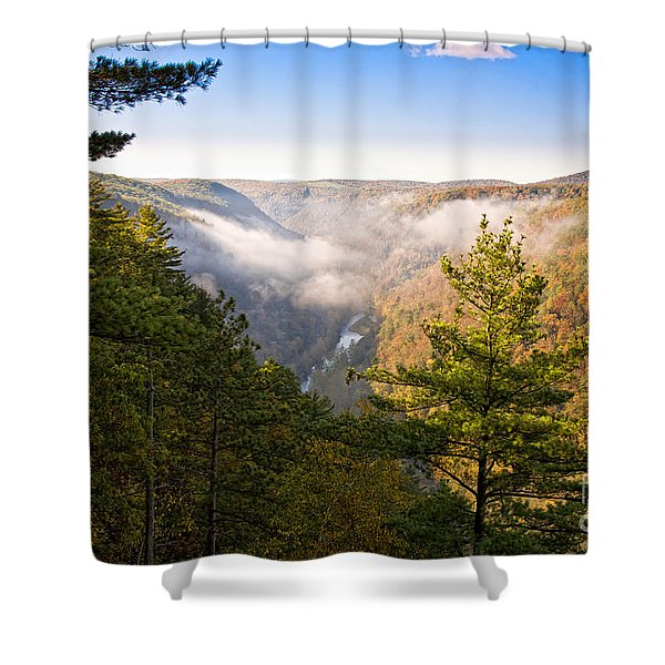 Fog Over The Canyon Shower Curtain