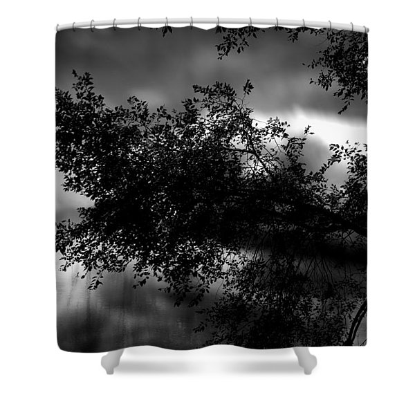 Foggy Autumn Morning On The River Shower Curtain
