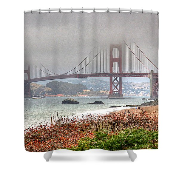 Foggy Bridge Shower Curtain