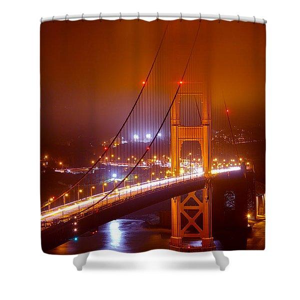 Foggy Golden Gate Shower Curtain