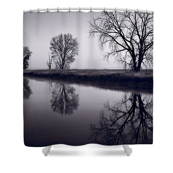 Foggy Morn Bw Shower Curtain