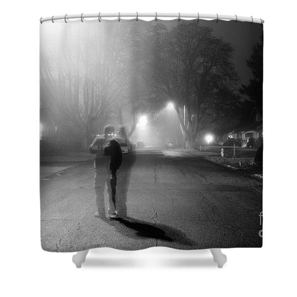 Foggy Night Shower Curtain