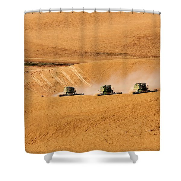Shower Curtain featuring the photograph Follow The Leader by Mary Jo Allen