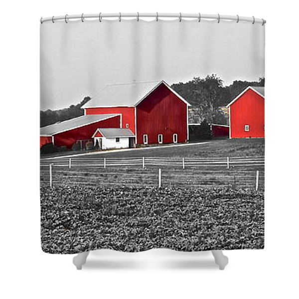 Follow The Yellow Dirt Road Shower Curtain