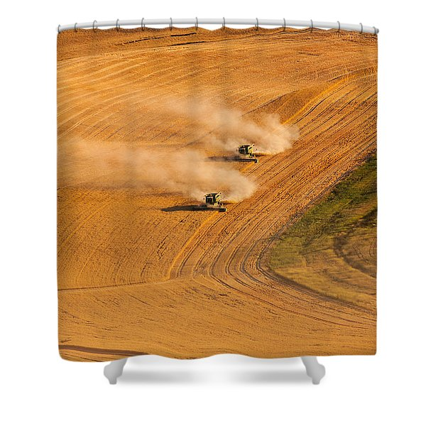 Shower Curtain featuring the photograph Following by Mary Jo Allen